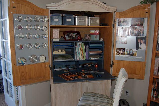 Sense And Centsability Scrapbook Armoire Scrapbook Storage Armoire Storage Craft Room Organization