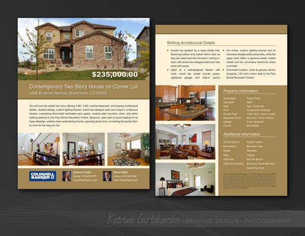 Real Estate Agent Flyer on Behance | Real Estate Branding and ...