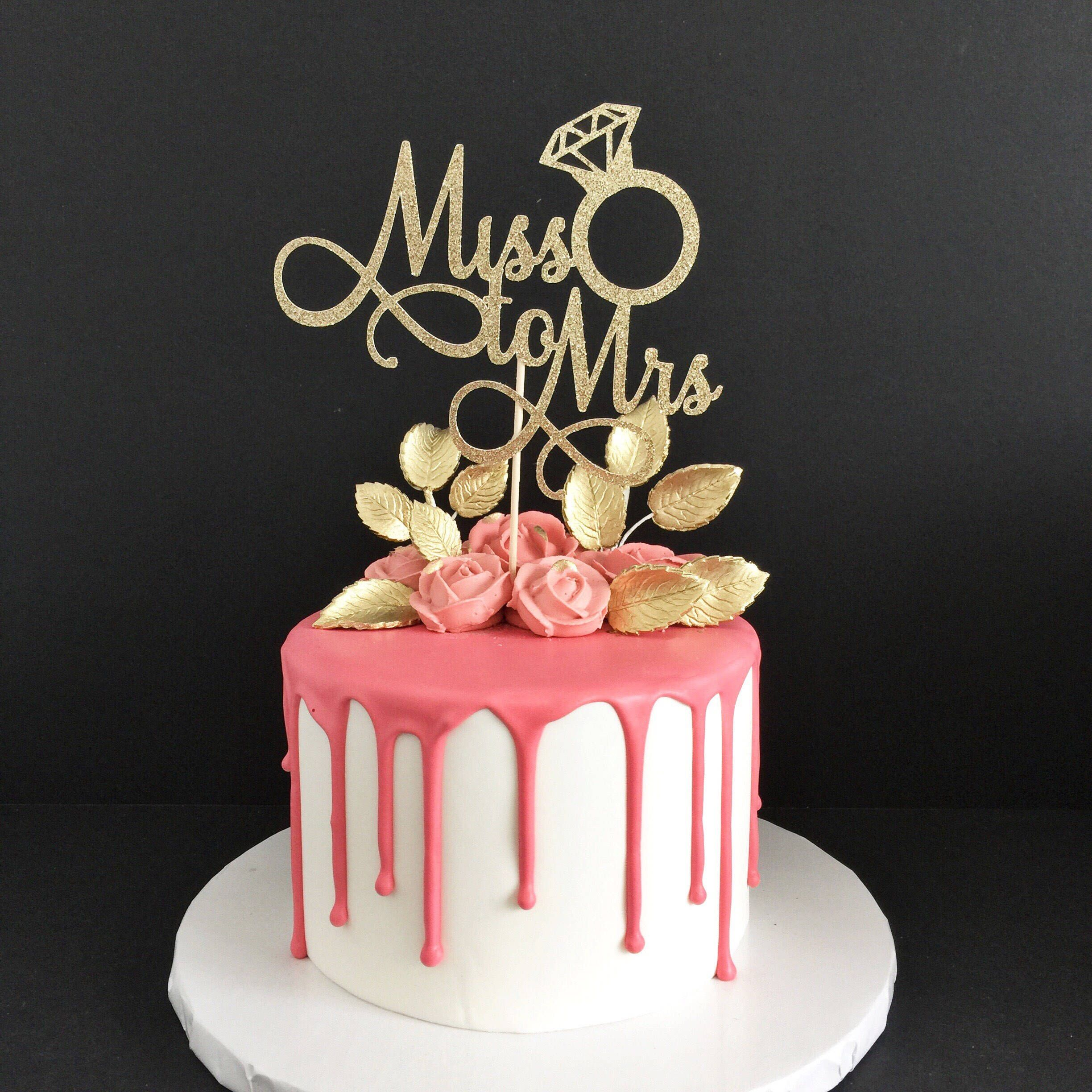 Miss To Mrs Cake Topper Bride To Be Bridal Shower Cake