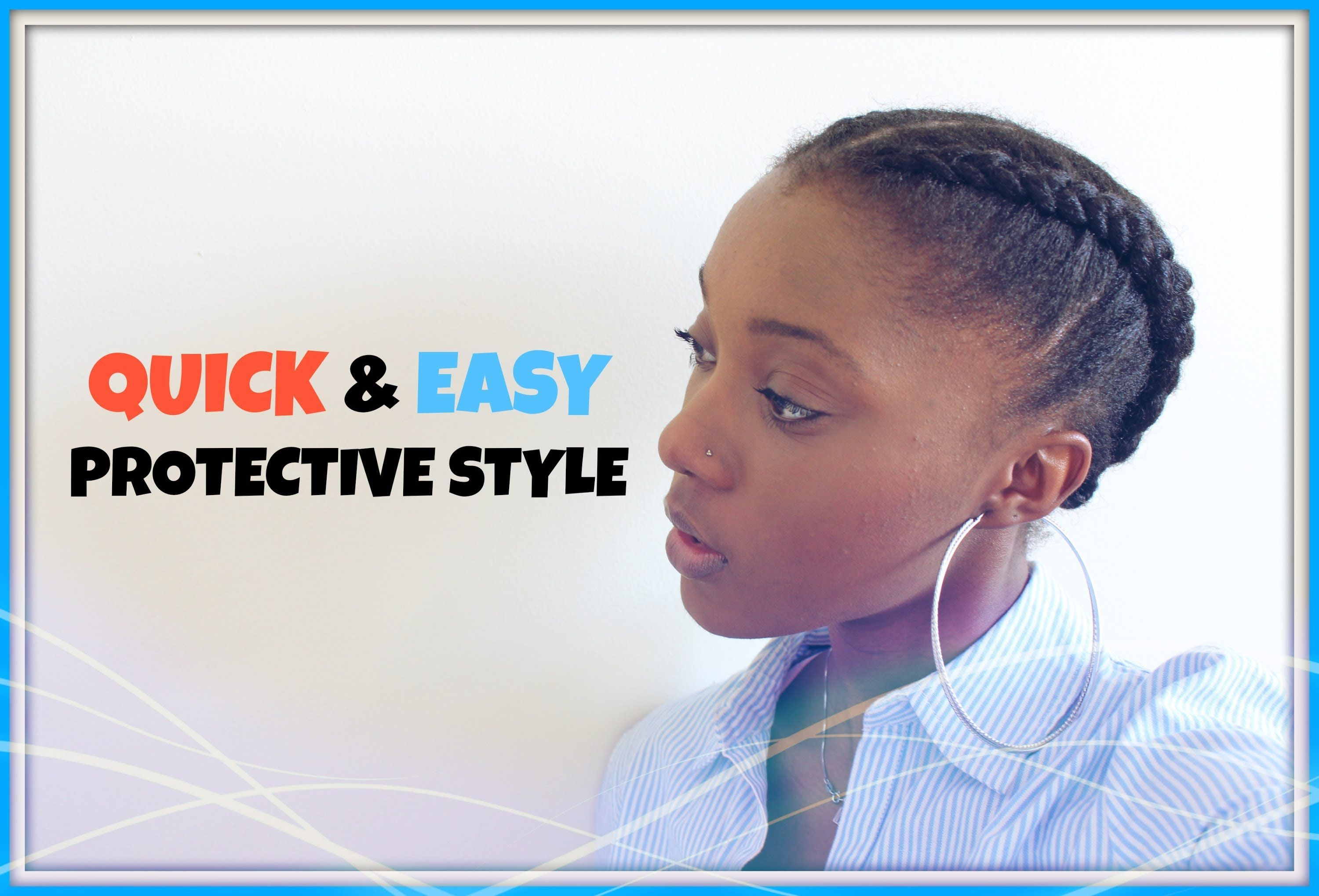 How to quick cute easy protective style on short natural hair c