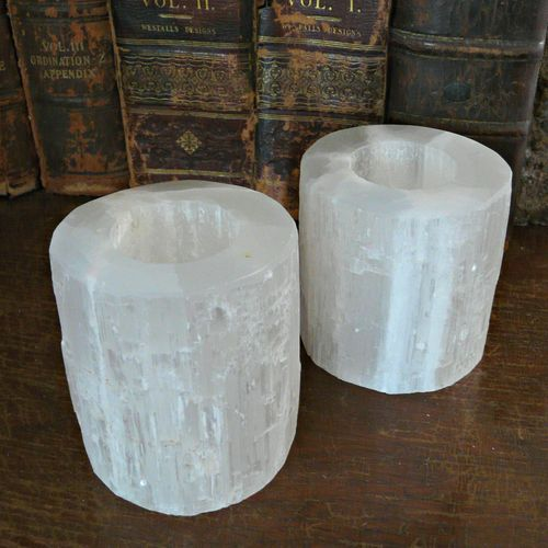 'Pair Selenite Candle Holders' is going up for auction at  9am Tue, Jun 26 with a starting bid of $6.