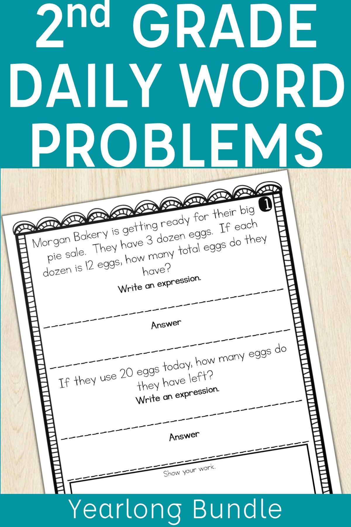 Build Students Problem Solving Skills In Second Grade With These Problem Of The Day Word Problems This Ye Word Problems Addition Word Problems Story Problems [ 1800 x 1200 Pixel ]