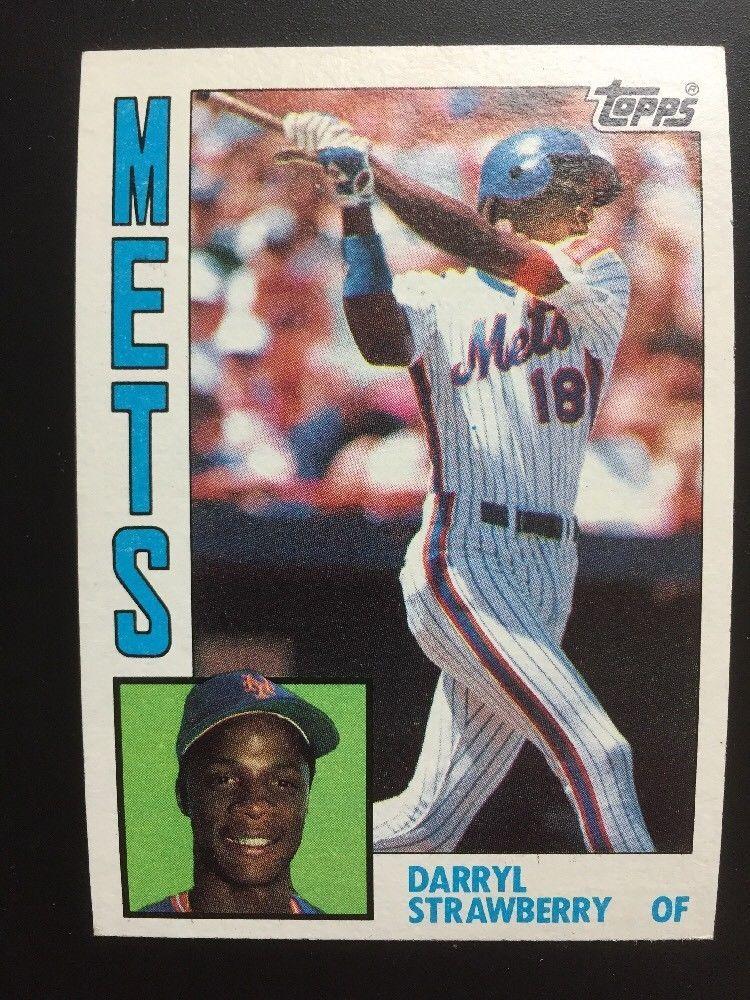 1984 topps darryl strawberry new york mets baseball card