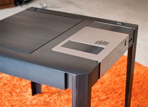 It's a table! It's a floppy disk!  NO, WAIT!  It's BOTH.  Try explaining what it is to your kids =]