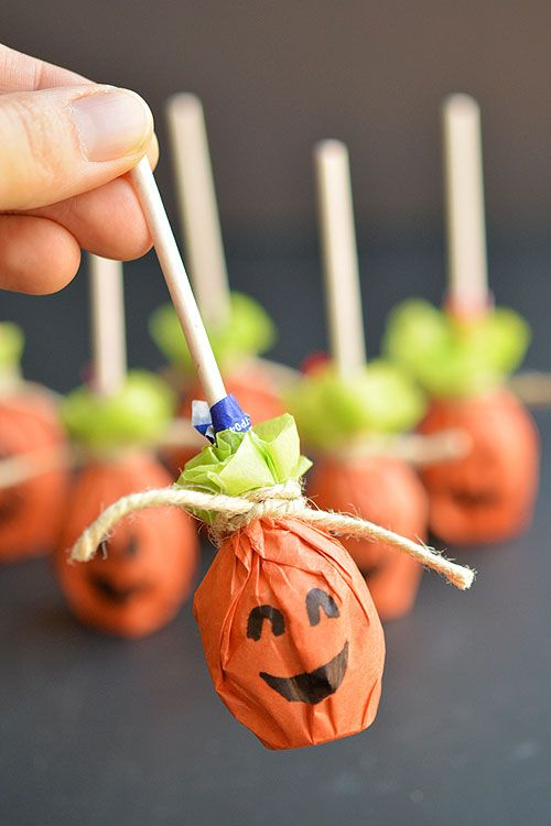 Pumpkin Lolly Pops Party favour ideas, Halloween parties and