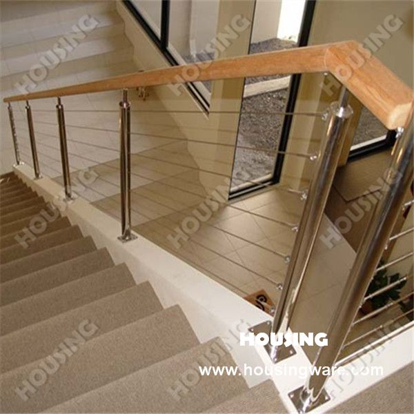 Contemporary interior cable railing ideas google search for Indoor railing design