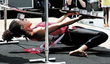 Lowest limbo by a woman- world record set by Shemika Charles