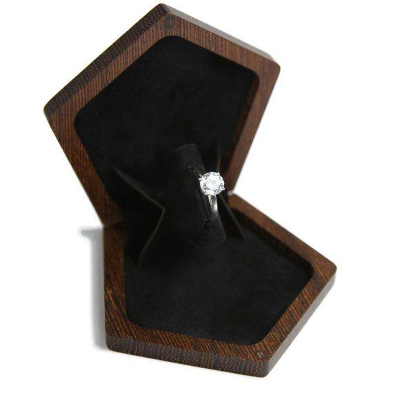 Slim engagement ring box wedding ring box by for Slim engagement ring box
