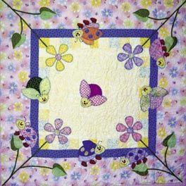 Kinder Quilt Patronen.Ladybug Gardens Baby Quilt Pattern Quilt Kinderen