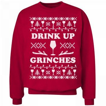 099aeeb83a42 Drink Up Grinches Wine Sweater