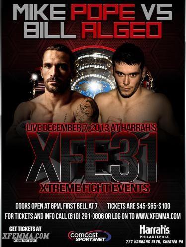 Xfe 31 Mma Fight Night In Philly Fight Night Combat Sport Fight