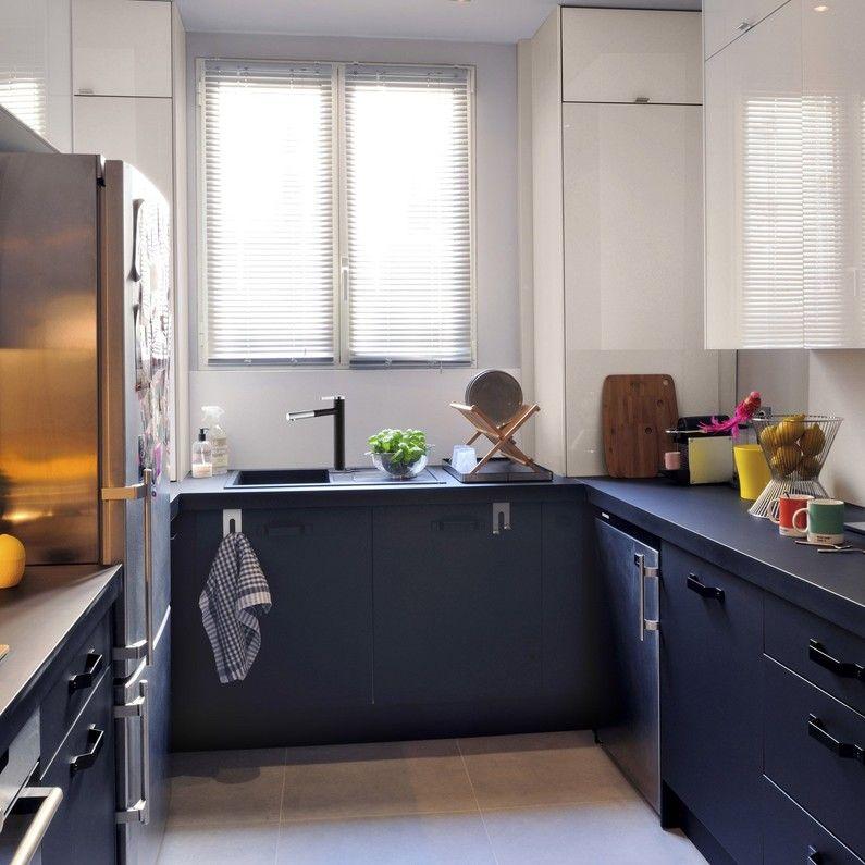 Meuble De Cuisine Noir Delinia Mat Edition Meuble Cuisine Meubles De Cuisine Noirs Cuisine Noire