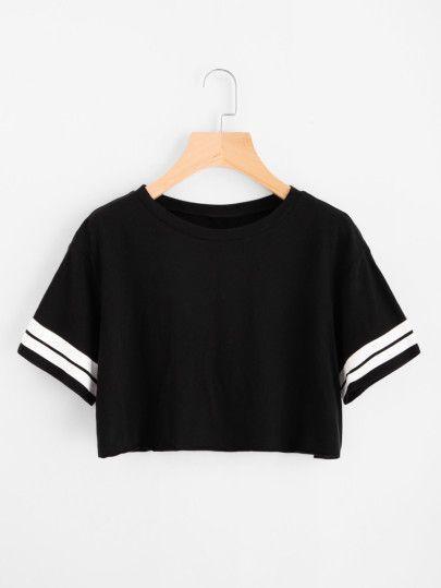 54393f10c4bf4 Camiseta corta con raya
