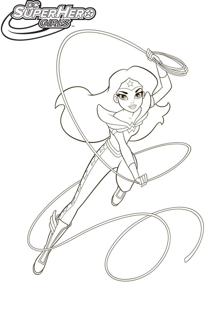 Dc Superhero Girls Coloring Pages Best Coloring Pages For Kids I 2020