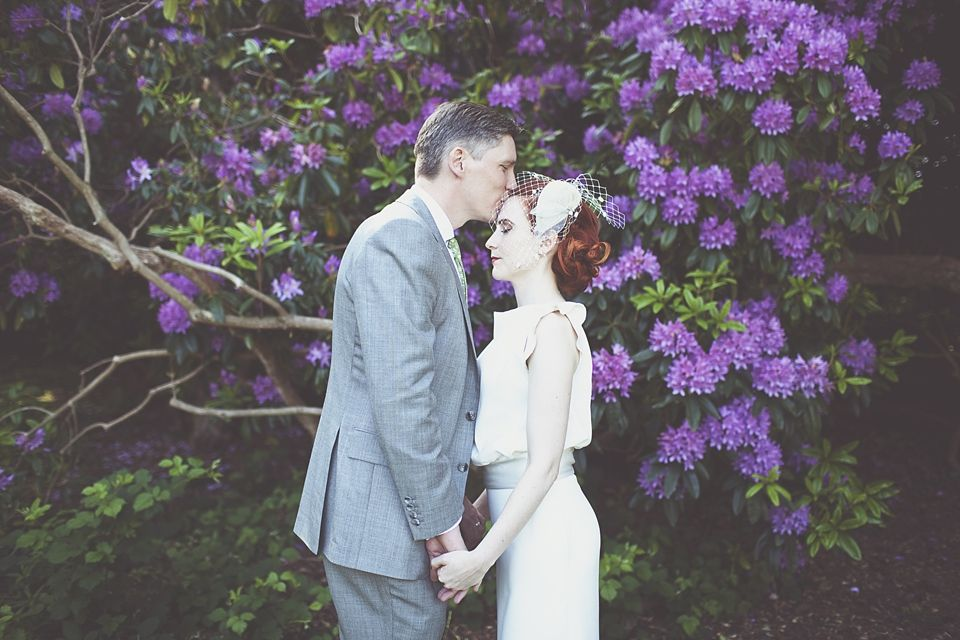 Bride and groom from a 20′s and 30′s Inspired Old Hollywood Glamour Wedding at Iscoyd Park   http://www.onloveandphotography.com/