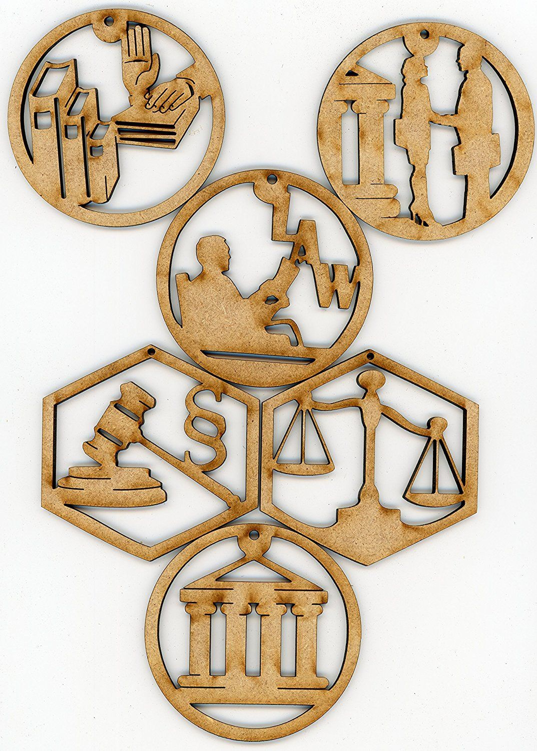 Attorney lawyer or legal wooden christmas holiday