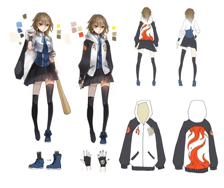 Badass Anime Character Design : Character design bww shiina akira by cyrushisa