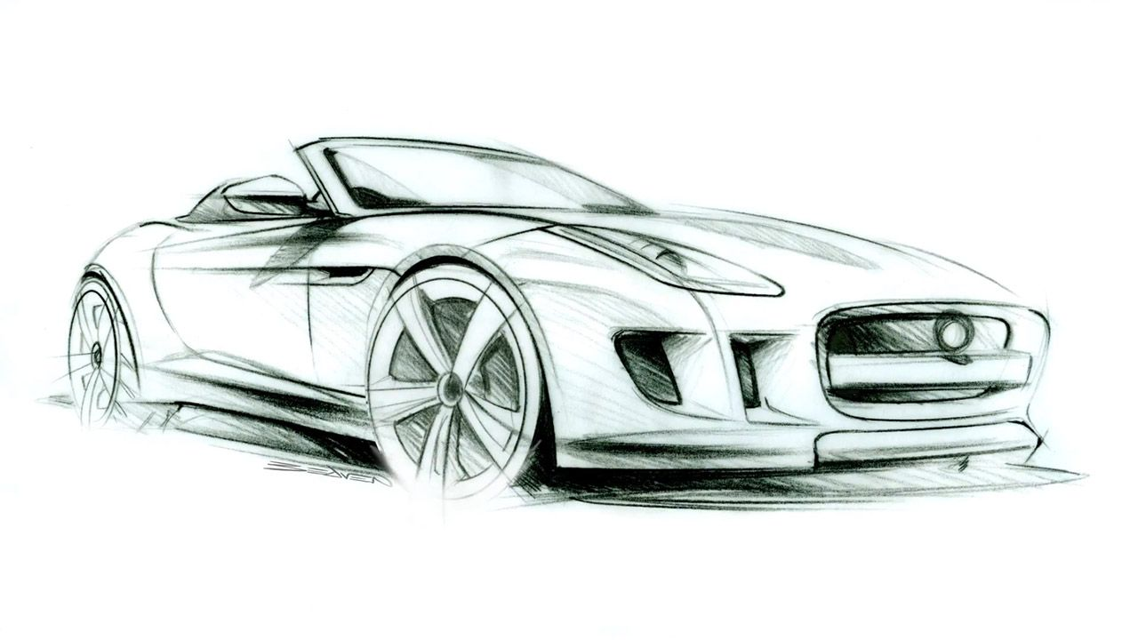 Jaguar F Type Design Sketch Car Sketches Pinterest Jaguar F