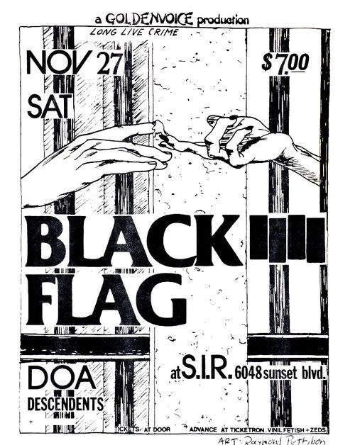 Black Flag Punk Poster Black Flag Raymond Pettibon