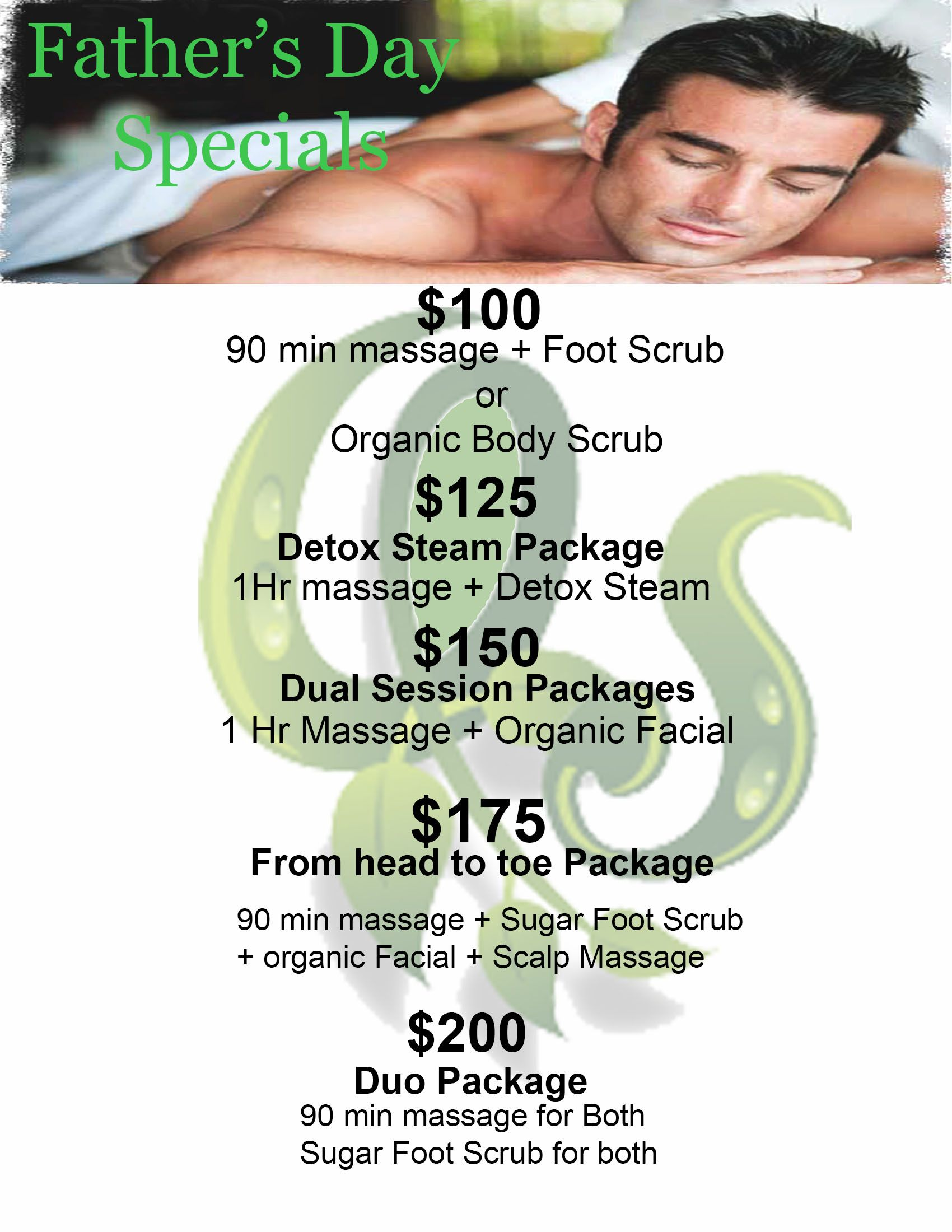 Fathers Day Special Still Going On Come On In To Organic Spa Massage In Atx Salon Promotions Massage Father S Day Specials