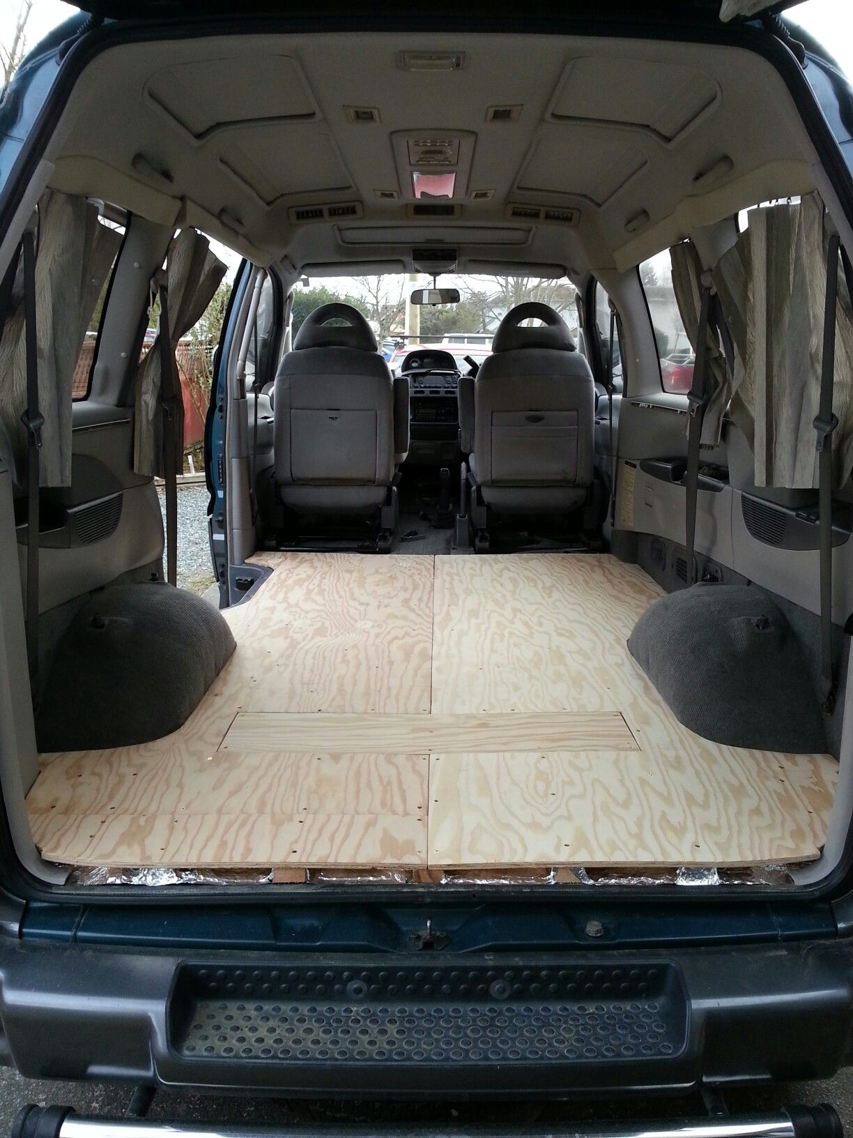 Mitsubishi Delica L400 Sub Floor Before Vinyl Flooring