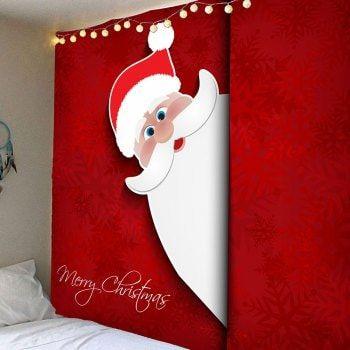 Waterproof Cute Christmas Snowman Pattern Wall Tapestry | Santa ...