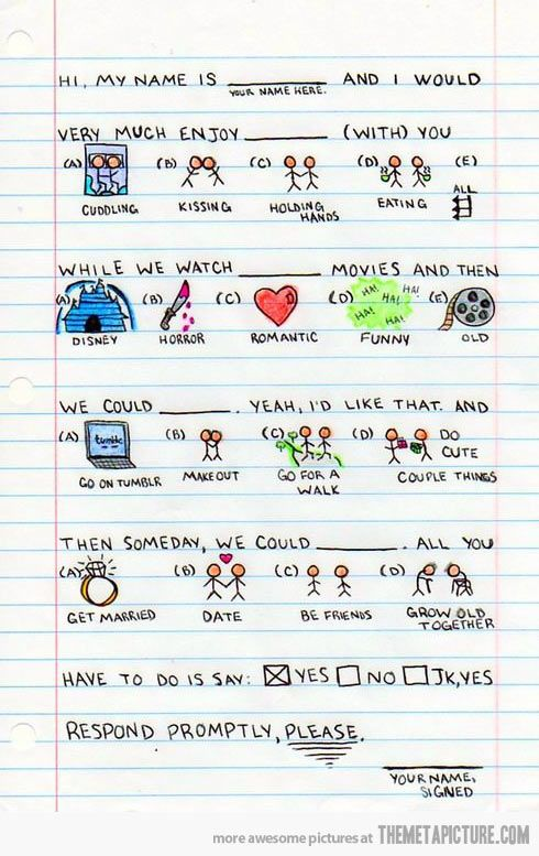 Respond Promptly Cute Date Ideas Cute Love Cute Notes