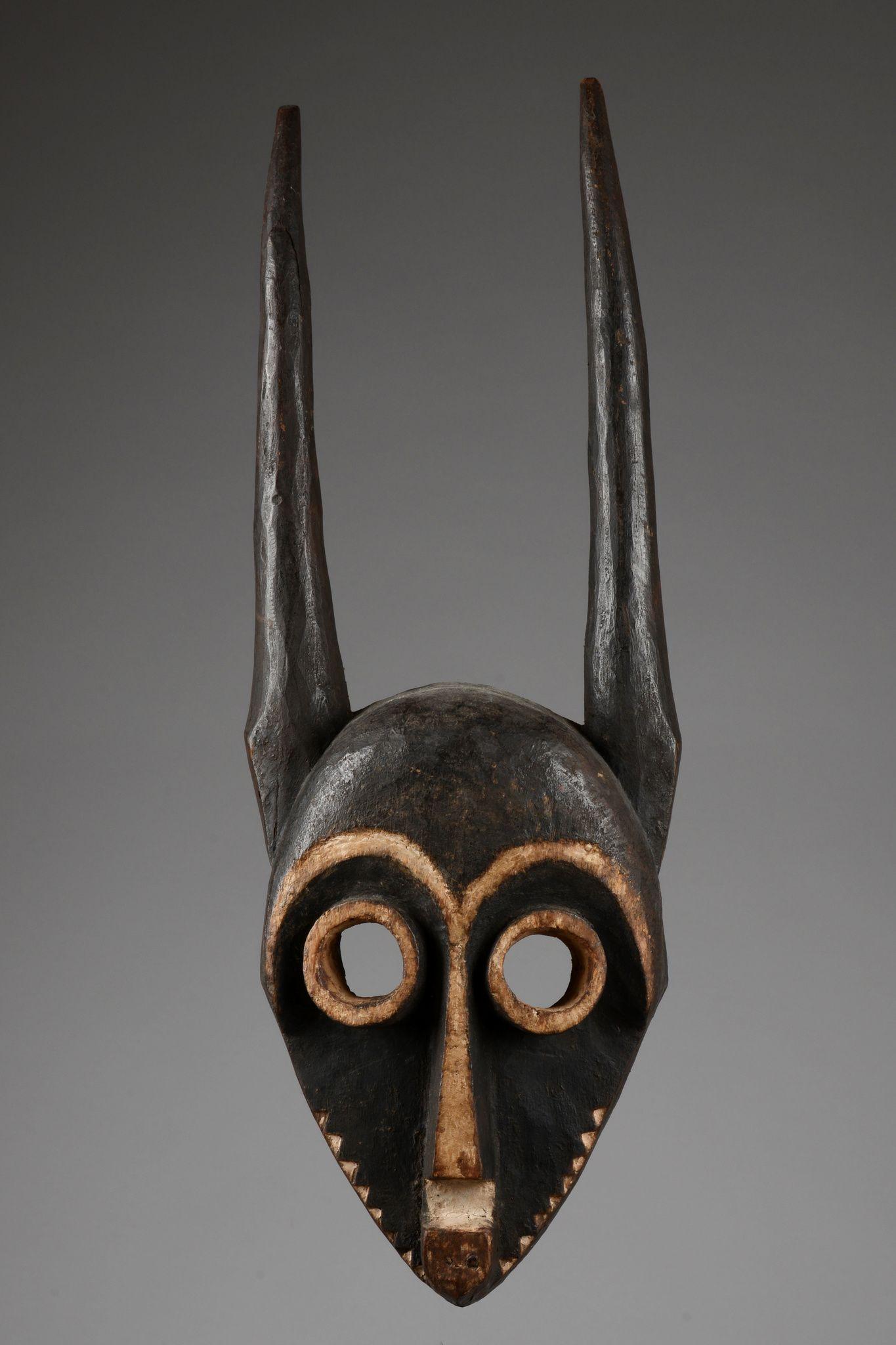Besch Farbe hörnermaske giphogo d r kongo pende holz schwarze und weiße