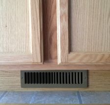 The Toe Ductor Br Under Cabinet Ducting Kit Cabinet Toe Kick Floor Vents Kitchen Vent