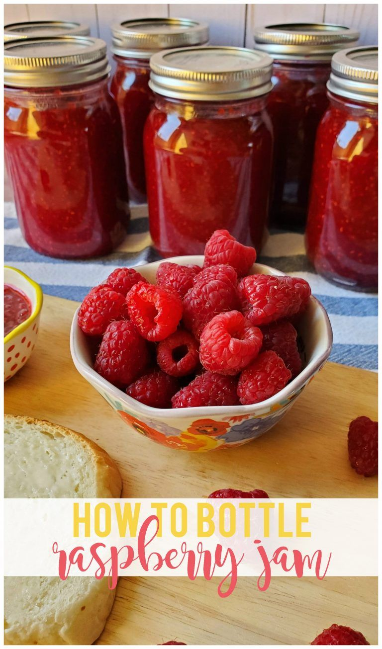 How to Bottle Raspberry Jam Recipe Jelly recipes, No