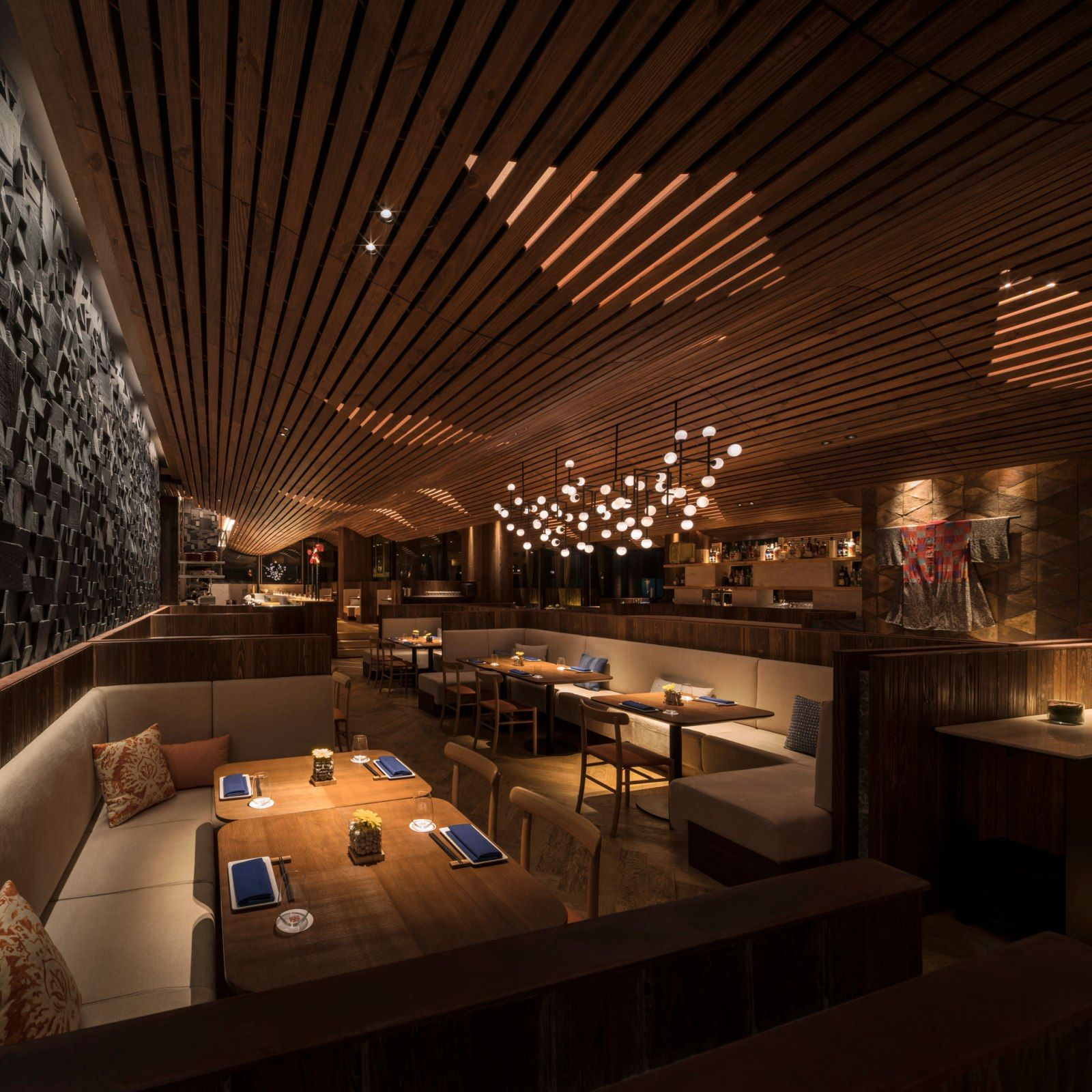 Morimoto Restaurant- a sophisticated interior design by Schoos ...