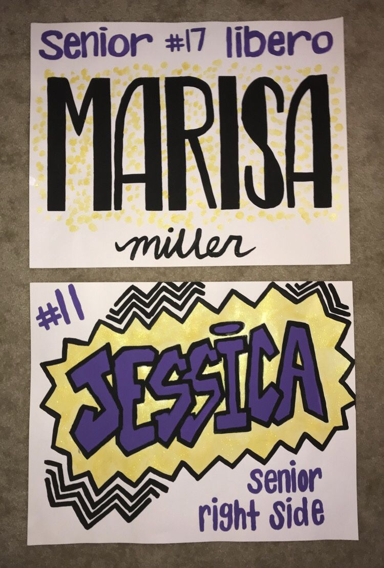 Volleyball Senior Night Posters Highschool Volleyball Posters Seniors Lettering Volleyball Senior Night Senior Night Posters Soccer Senior Night Posters