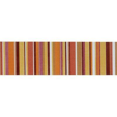 """Interceramic Aquarelle 4"""" x 12"""" Ceramic Fabric Tile in Red Listel Stripes (Set of 2)"""