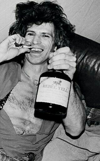 http://www.rebbl.house/ Keith Richards with Rebel Yell in 1981
