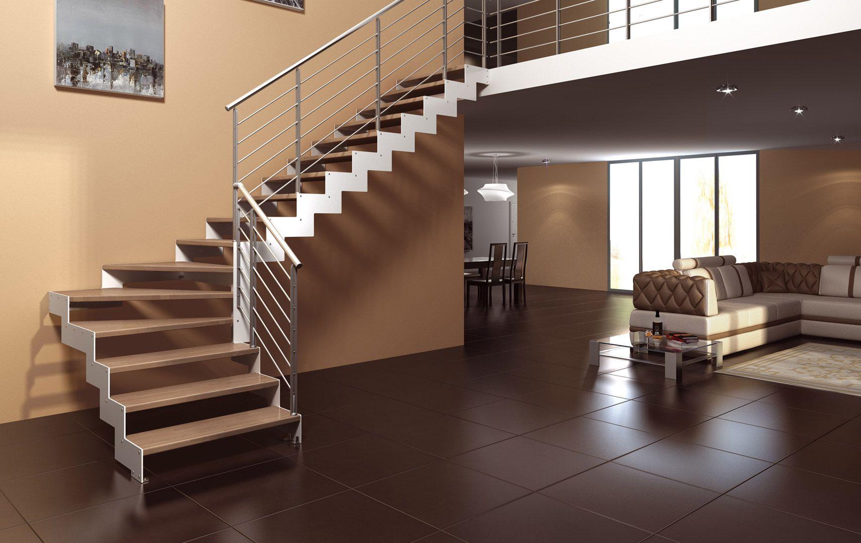 Scale a giorno scale per interni scale di legno - Scale interno casa ...