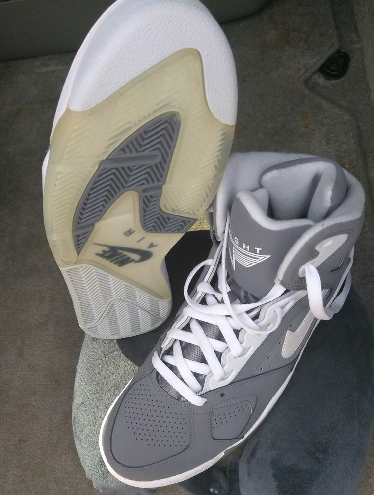 new arrival 57d65 6027b NEW MENS NIKE AIR FLIGHT LITE HIGH 329984-004 COOL GREYWHITE-PURE  PLATINUM  Clothing, Shoes  Accessories, Mens Shoes, Athletic  eBay!