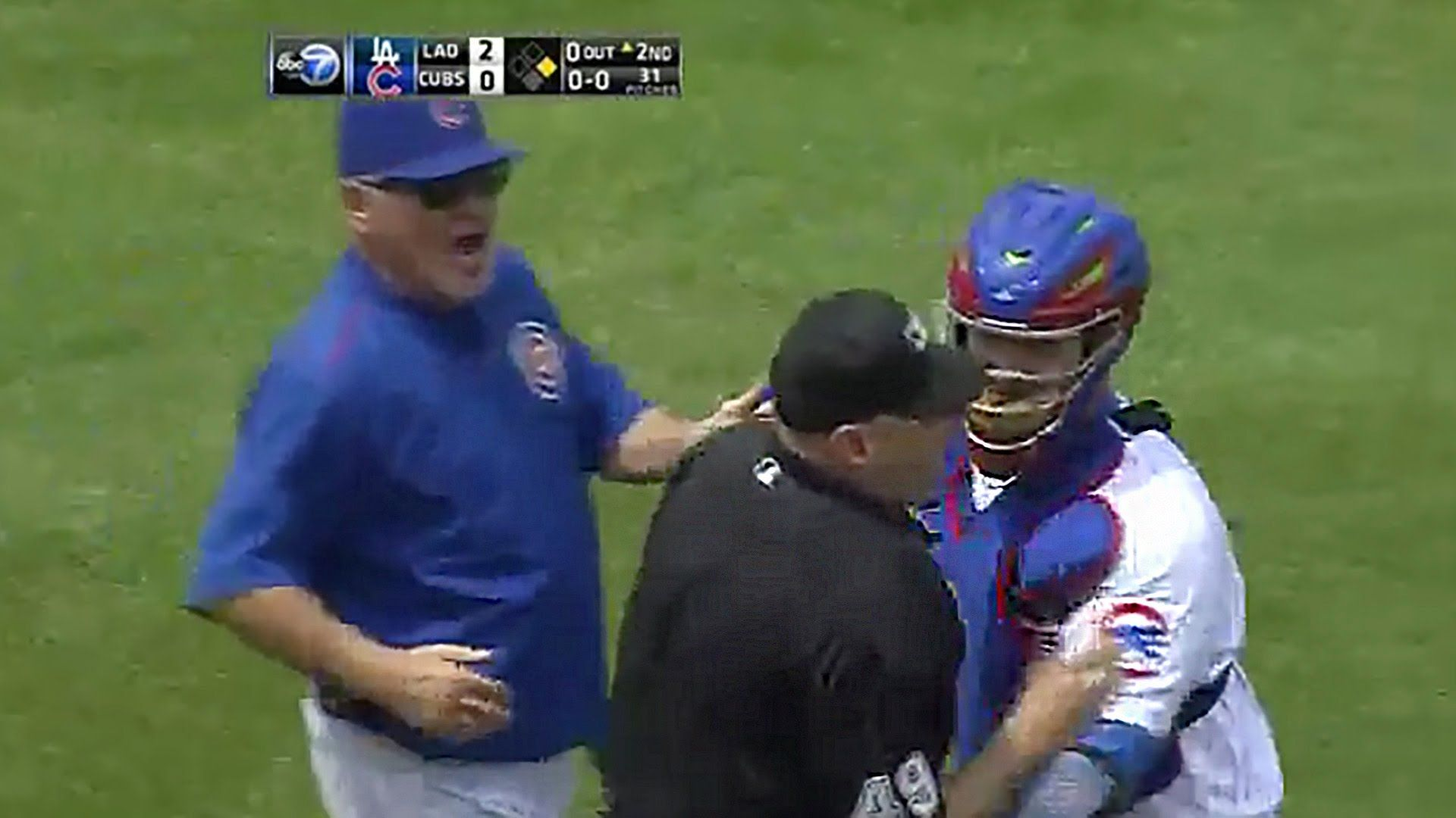 Mlb Umpire Charges Mound To Confront Jon Lester Video Mlb Confront Lesters