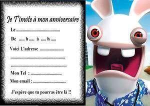 5 Cartes Invitation Anniversaire Lapins Cr 233 Tin Anniv