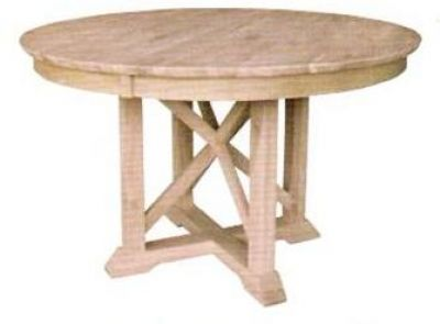 T 148rt 48 Sienna Table With Flair Pedestal Unfinished