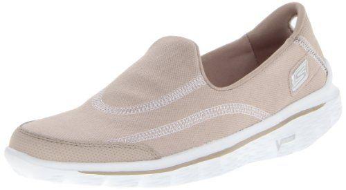 Skechers Women's Go Walk 2 Fresco Walking Shoe,Stone,7 M US