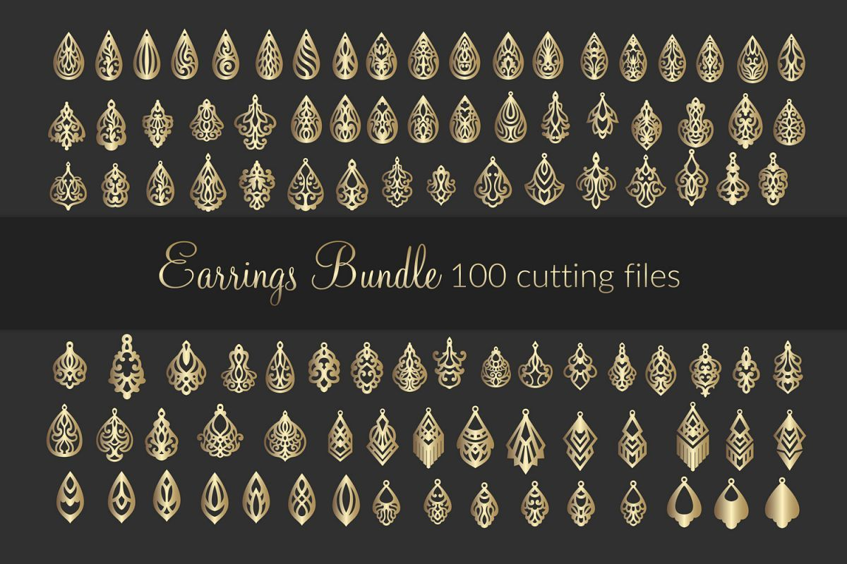 Pin on Earring Svg Files / Earring Templates / Faux