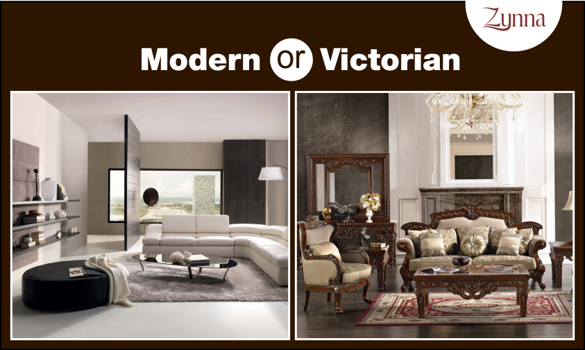 Walls, floor, lighting of room 2 with furniture of room 1  Modern or Victorian? Which is your style?