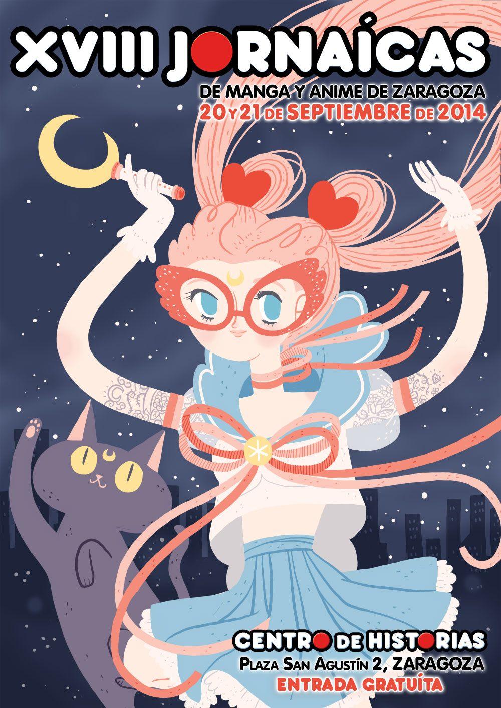 cartel jornada de manga y animé