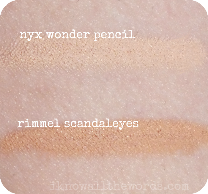 28ad196f513 NYX Wonder Pencil- Light vs. Rimmel ScandalEyes Waterproof Kohl Kajal- Nude