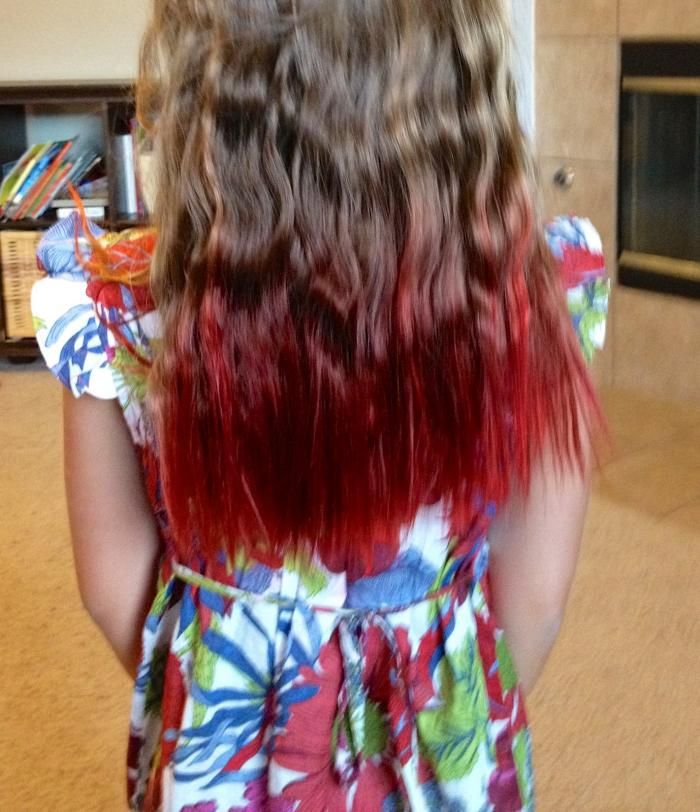 Dirty Blonde Hair With Red Tips Google Search Hair Ideas