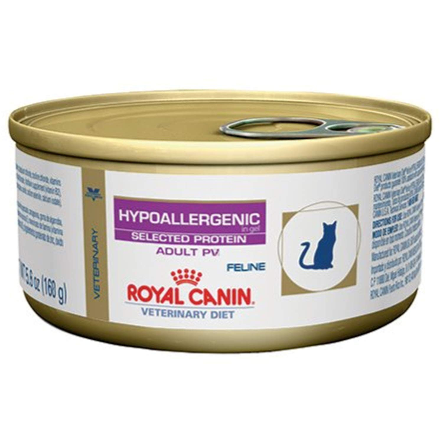 Royal Canin Veterinary Diet Feline Hypoallergenic Potato And Venison Pv Formula Canned Cat Food 24 5 6 Oz Ca Canned Cat Food Cat Food Hypoallergenic Cat Food