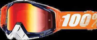 100% 50110-115-02 Racecraft Goggles Crush Mirror Red
