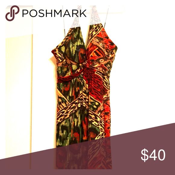 Selling this Multi-Colored Halter Dress on Poshmark! My username is: saraesawicki. #shopmycloset #poshmark #fashion #shopping #style #forsale #Muse Refined #Dresses & Skirts