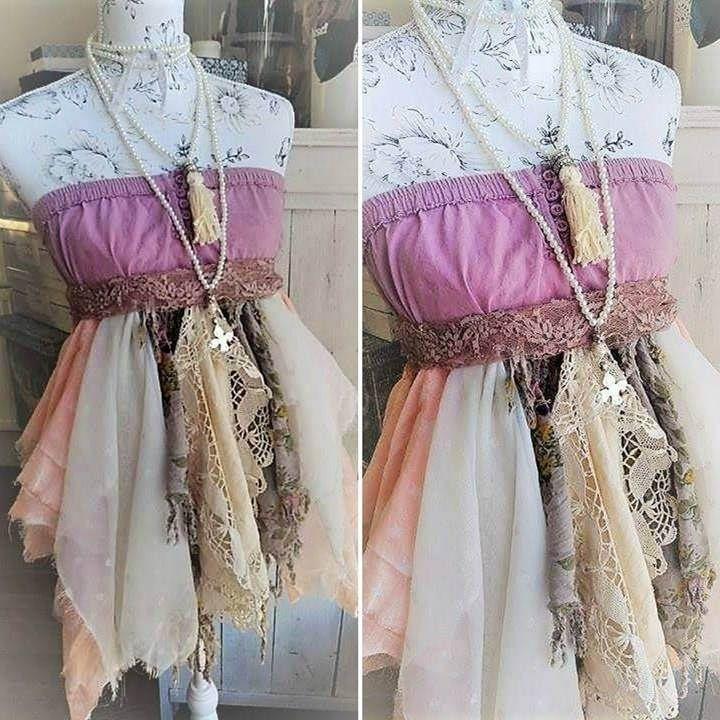 Top bustier bohème, crochet de dentelle ancienne, coton et voile. Style Stevie Nicks, boho romantique. Robe de plage hippie gypsy festival. de la boutique PinkWaterShop sur Etsy