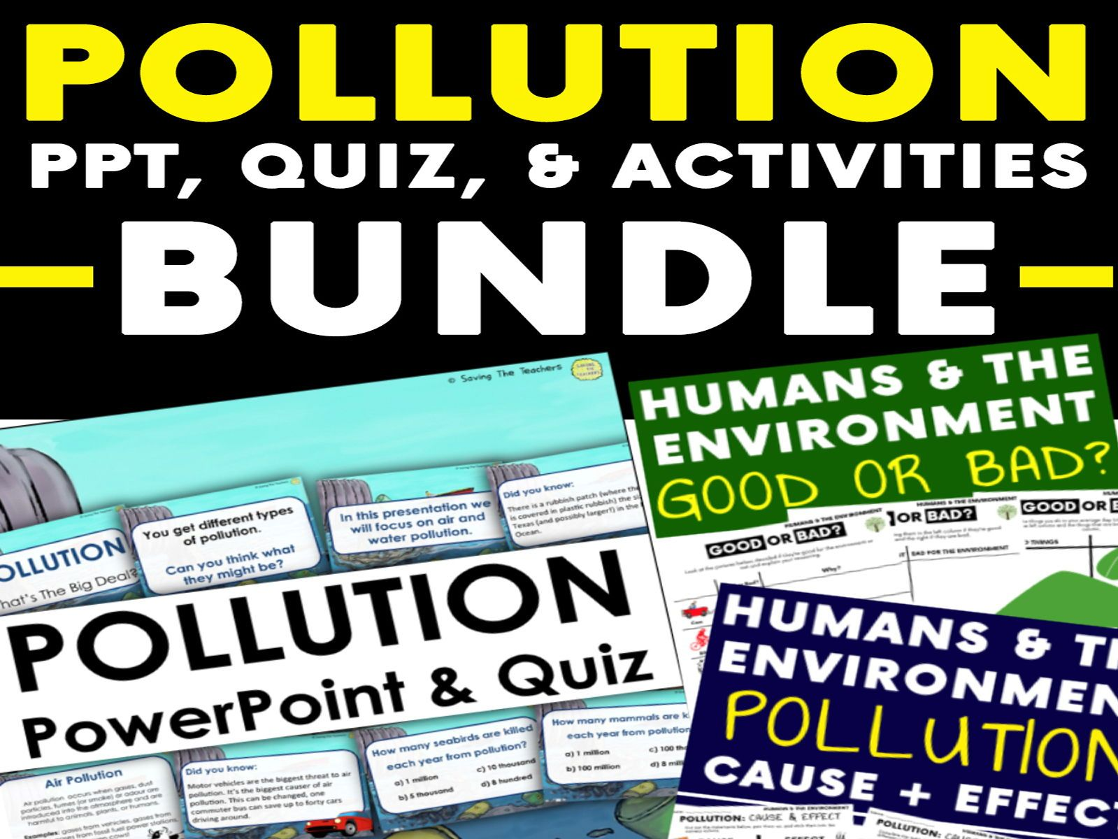 Humans And The Environment Pollution Powerpoint Quiz